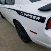 2014 Dodge Charger Hemi Hood Decals RECHARGE HOOD 2011-2014