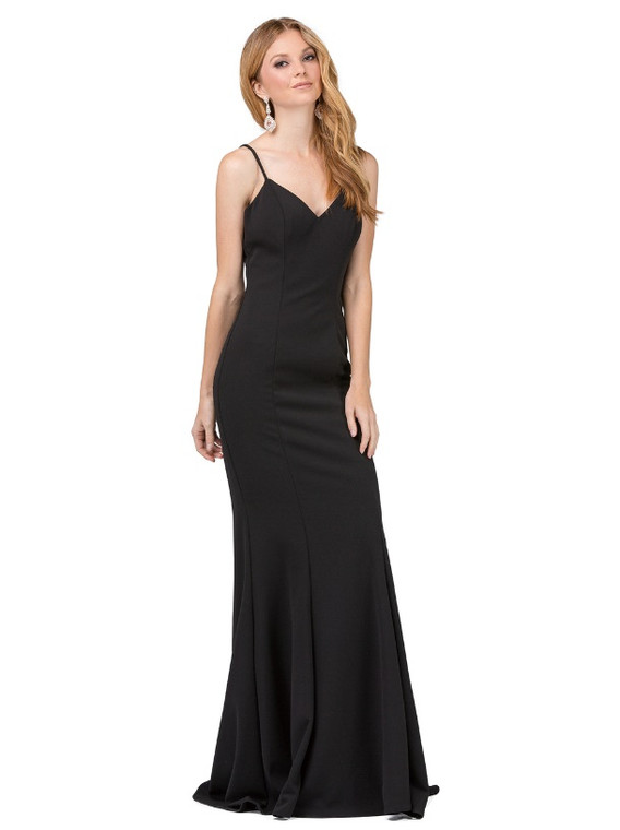 Elegant, V-neck, prom dress
