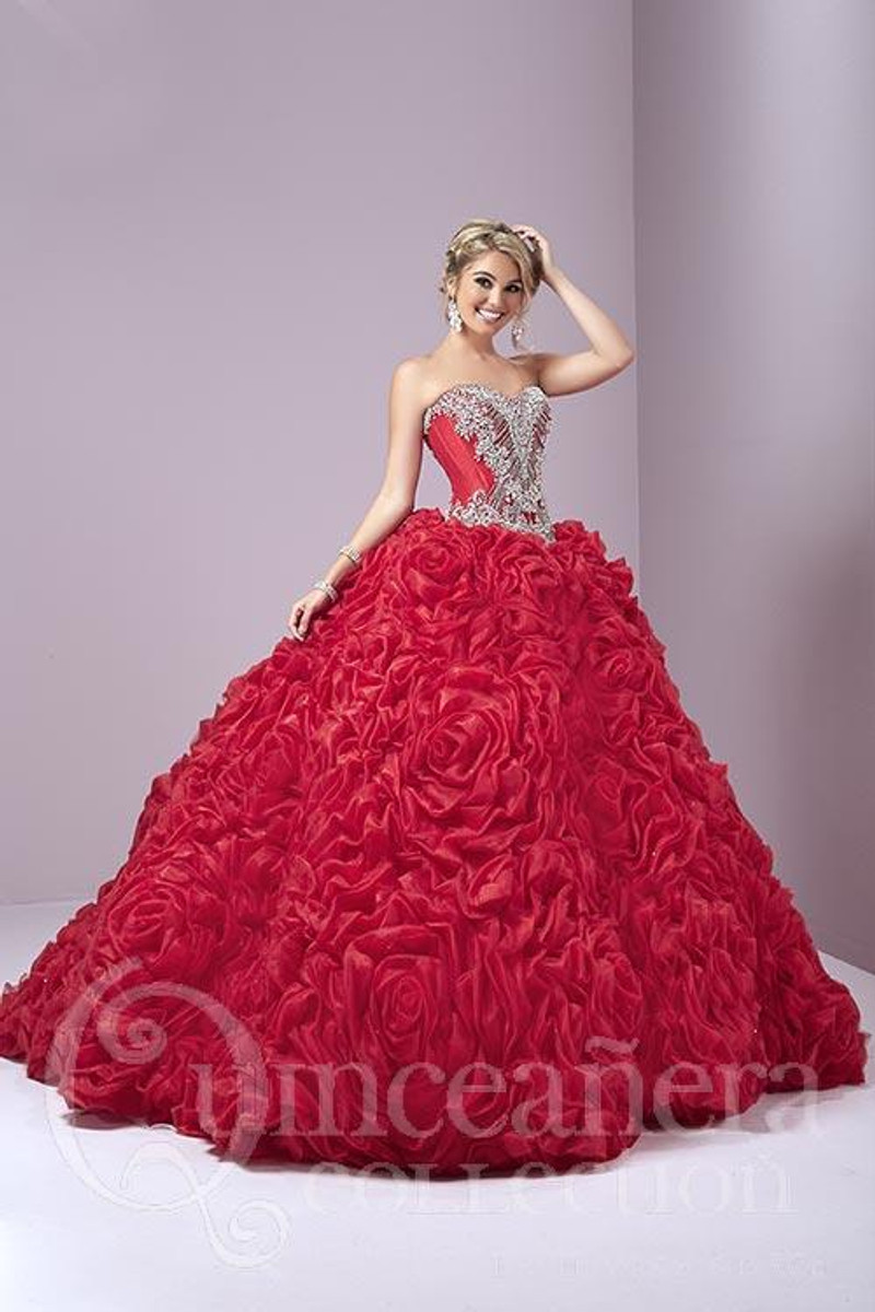 Red/Red quince dress