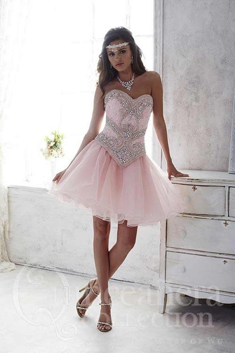 Three piece Quinceanera dress.