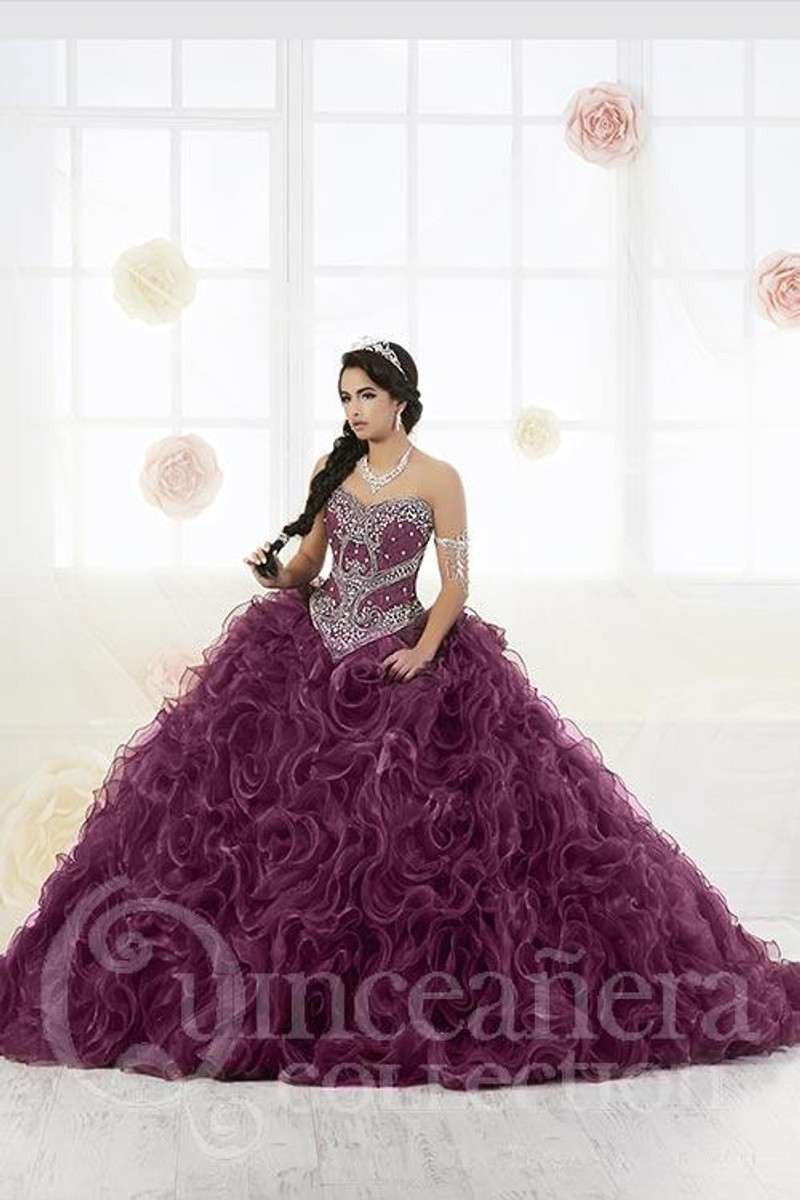 Black Cherry quinceanera dress.