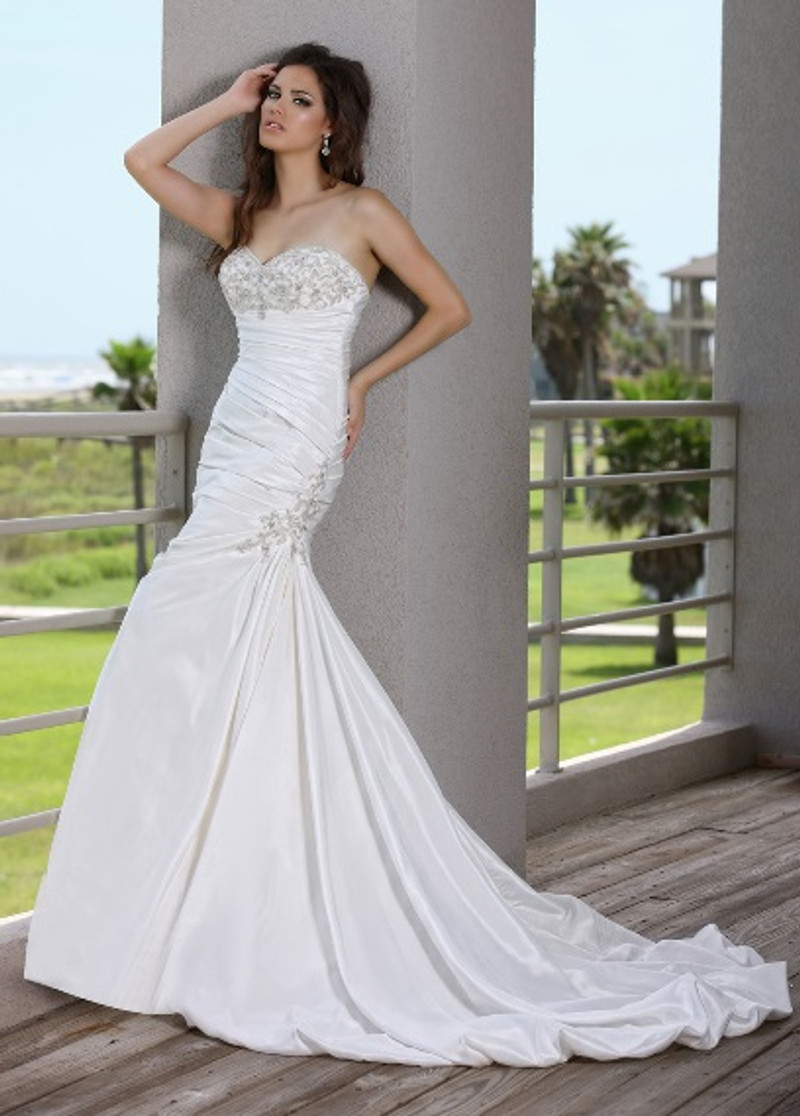 Mermaid wedding dress.
