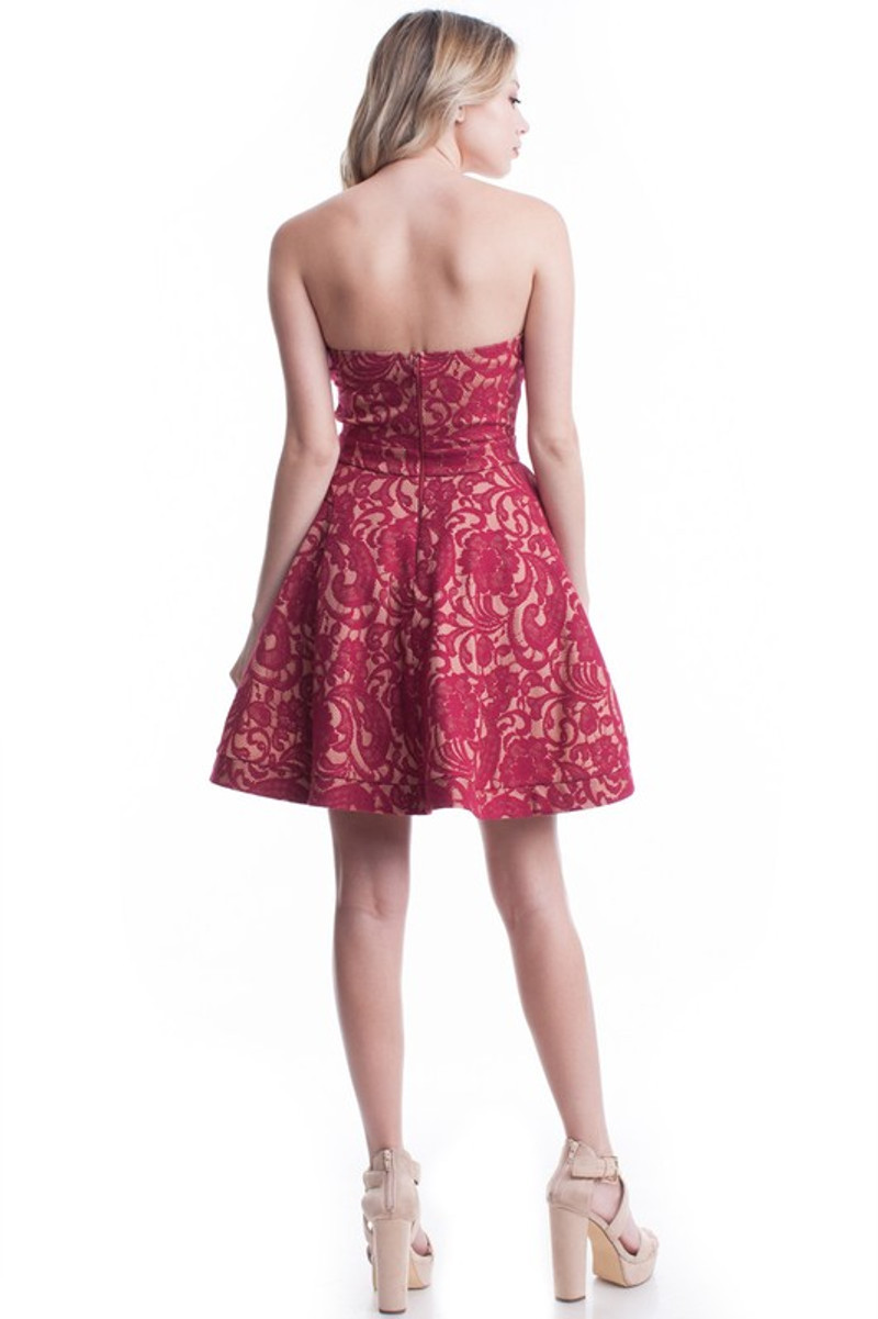 Homecoming dress with a zipper back.