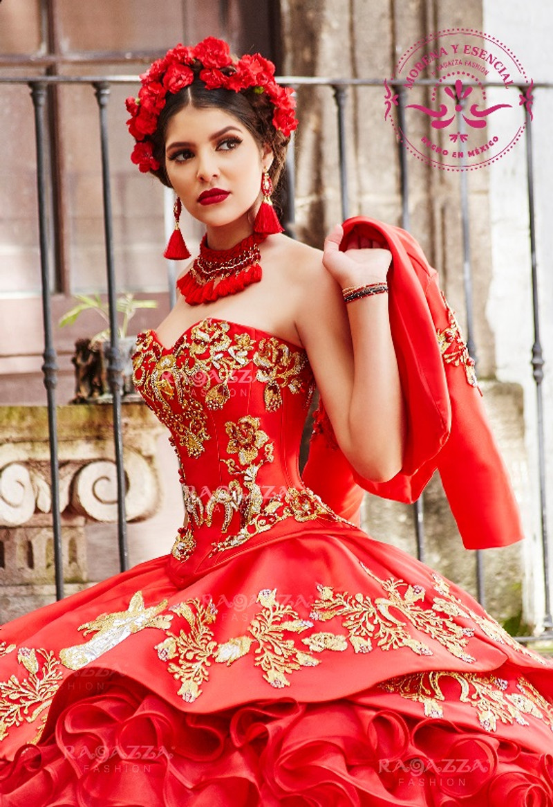 c9fb2efede2 This quince dress has a charro jacket that matches perfectly with the Quinceanera  dress.