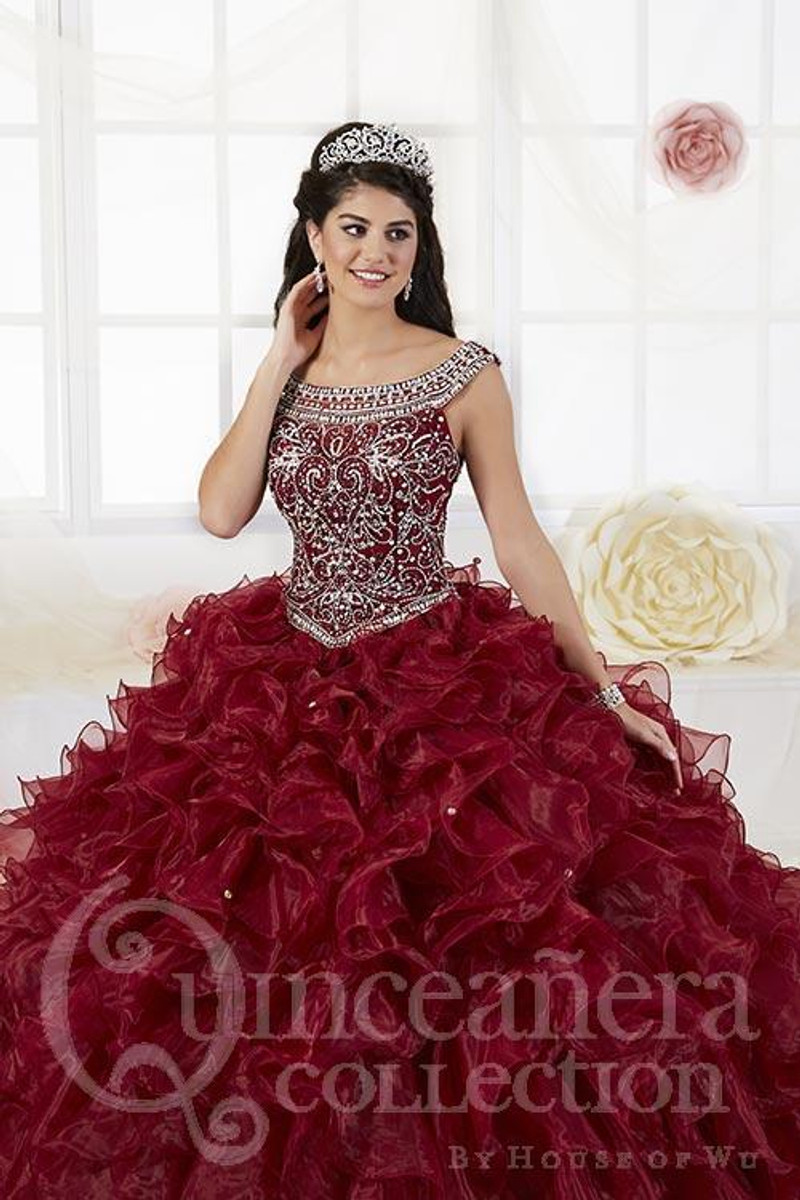 This quince dress is available in white.