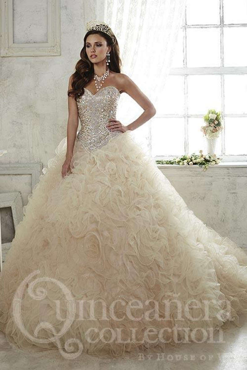Gold quince dress.
