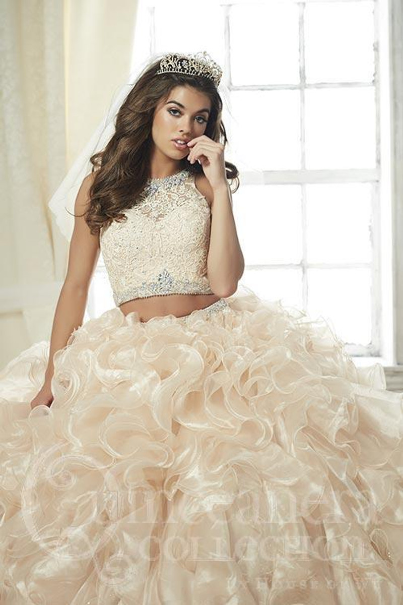Organza and lace, quinceanera dress.