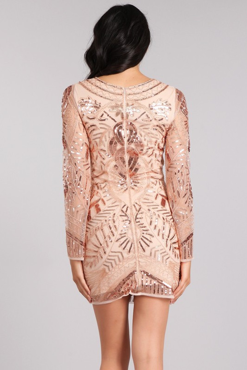 Rose gold, homecoming dress.