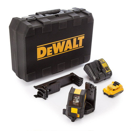 Dewalt DCE088D1G 10.8V Green Self Levelling Cross Line Laser (1 x 2.0Ah Battery)