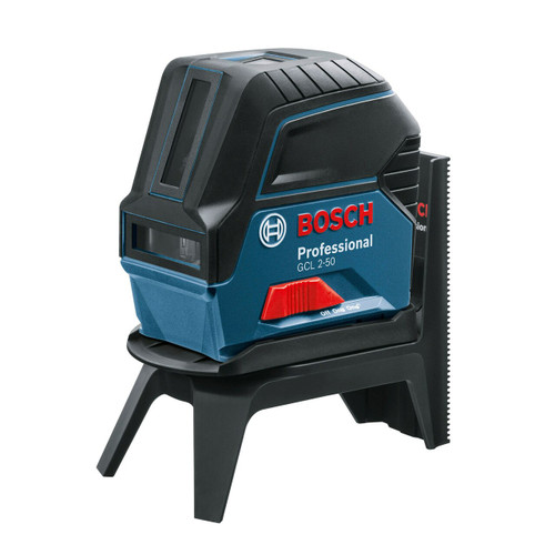 Bosch GCL 2-50 Red Self Levelling Cross Line Laser with LR 6 Laser Receiver & RM 1 Wall Mount