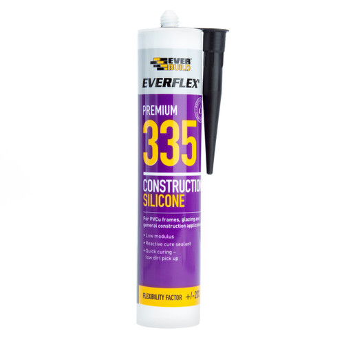 Everbuild 335TOF Everflex 335 Construction Silicone Toffee 295ml