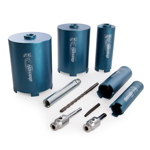 Makita P-74712 Diamak Dry Diamond Core Drill Set 10 Piece