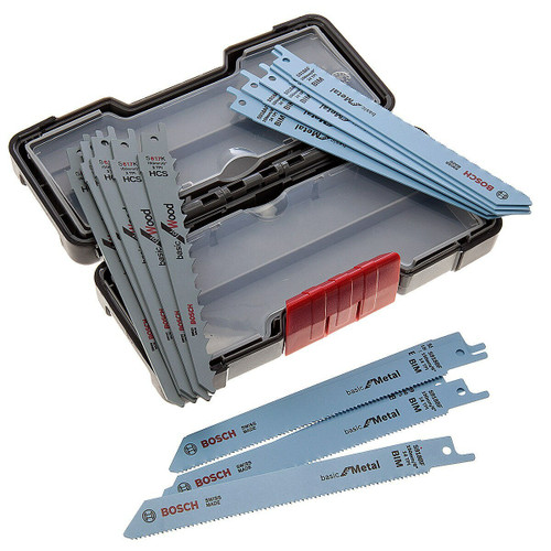 Bosch 2607010901 Reciprocating Saw Blades for Wood & Metal (15 Piece) in Tough Box