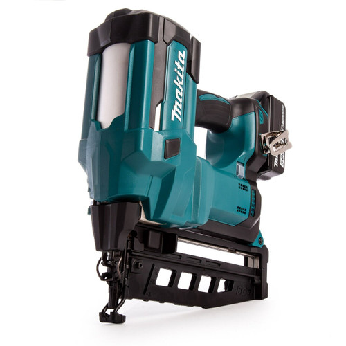 Makita DBN600 18V LXT 16 Gauge Finishing Nailer (2 x 5.0Ah Batteries)