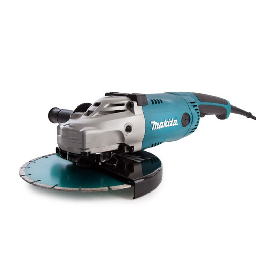 Makita GA9020KD 9 inch/230mm Angle Grinder with Kit Box & Diamond Blade (240V)