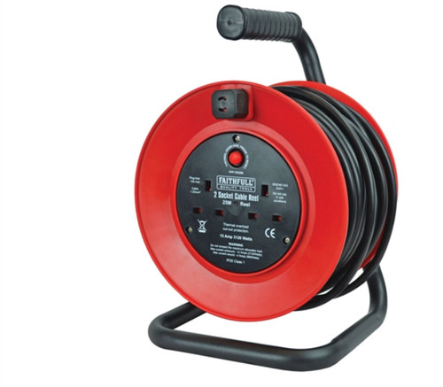 Cable Reel / Extension Lead 25m - 13amp 230v FPPCR25M