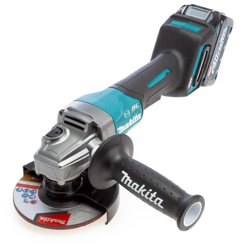 Makita GA013GD101 40Vmax XGT Brushless Angle Grinder With Paddle Switch 125mm (1 x 2.5Ah Battery)