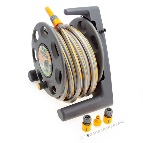 Hozelock 2412 Free Standing Hose Reel with 25 Metres of 12.5mm Hose