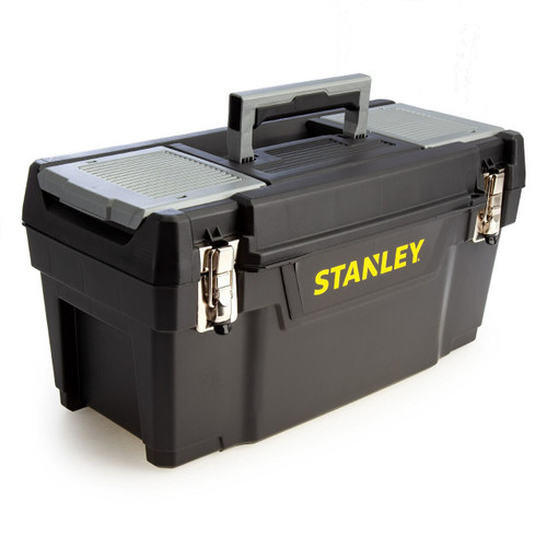 Stanley 1-94-858 Metal Latch Tool Box with Tote Tray 20""