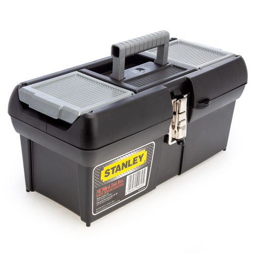 Stanley 1-94-857 Metal Latch Tool Box with Tote Tray 16 Inch / 40cm