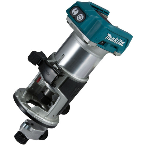 Makita DRT50ZX4 Router/Trimmer 18V Cordless Brushless (Body Only with Trimmer Base, Trimmer Guide And Straight Guide)