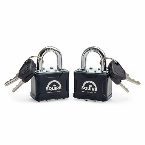 Henry Squire 35T Double Locking 4 Pin Padlock 40mm (Pack of 2)