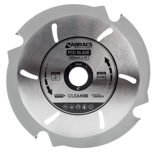 Abracs PCD1604 PDC Circular Saw Blade for Fibre Cement Board 160mm x 20mm x 4T