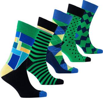 Men's Emerald Mix Set Socks
