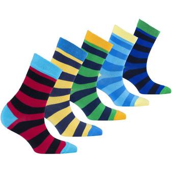 Kids Trendy Stripes Socks