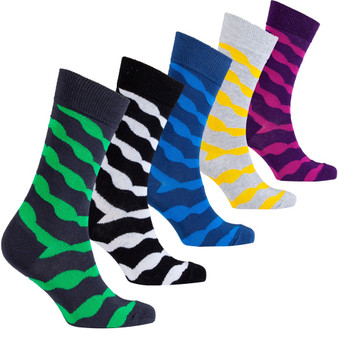 Men's Solid Waves Socks