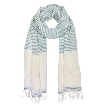 Airy Cotton Stripe Scarf