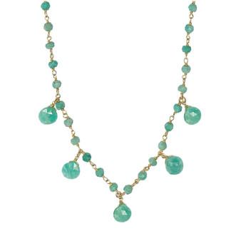Amazonite Droplet Vermeil Necklace