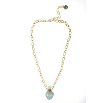 Amazonite Heart Chain Necklace