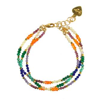 Chakra Triple Strand Bracelet