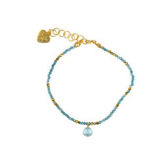 Apatite and Aquamarine Delicate Bracelet
