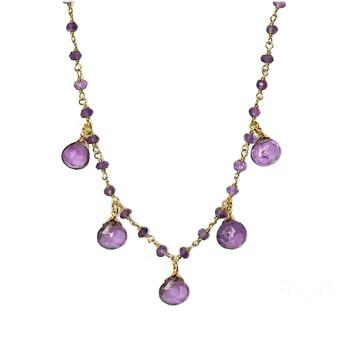 Amethyst Droplet Vermeil Necklace
