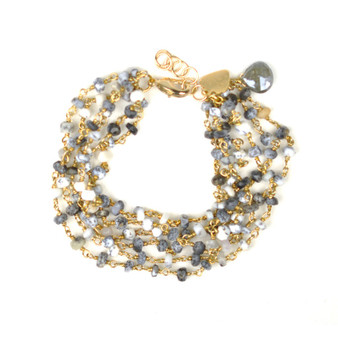 Dalmatian Opal Bracelet