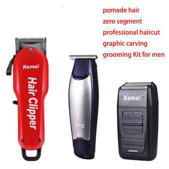 Kemei Professional Hair Clipper Electric Cordless Men Hair Beard Trimmer Barber Haircut Machine Styling Tools for Pomade Hair