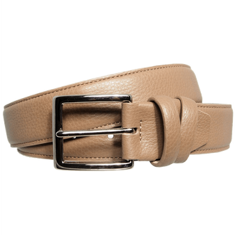 34 Mm Duo Ply Leather Belt Beaver