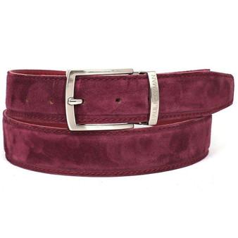PAUL PARKMAN Men's Purple Suede Belt (ID#B06-PURP)
