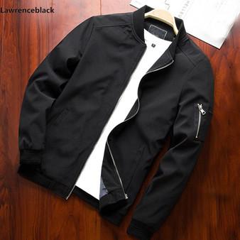 Men Bomber Jacket Thin Slim Long Sleeve Baseball Jackets Windbreaker Zipper Windbreaker Jacket Male Outwear Brand Clothing 6580