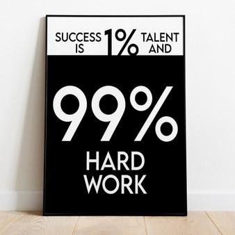 99% Hard Work