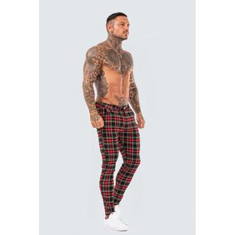 Skinny Check Trousers - Tartan