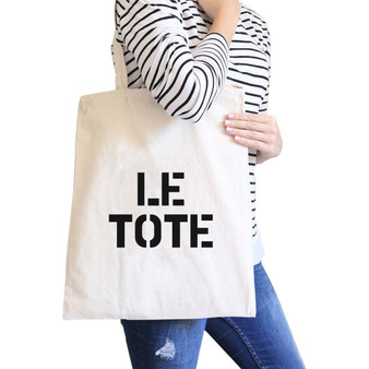 Le Tote Natural Canvas Bag for Back to School Tote Bags for Women