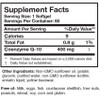 Researched Nutritionals CoQ10 Power 400 mg 60 softgels ingredients