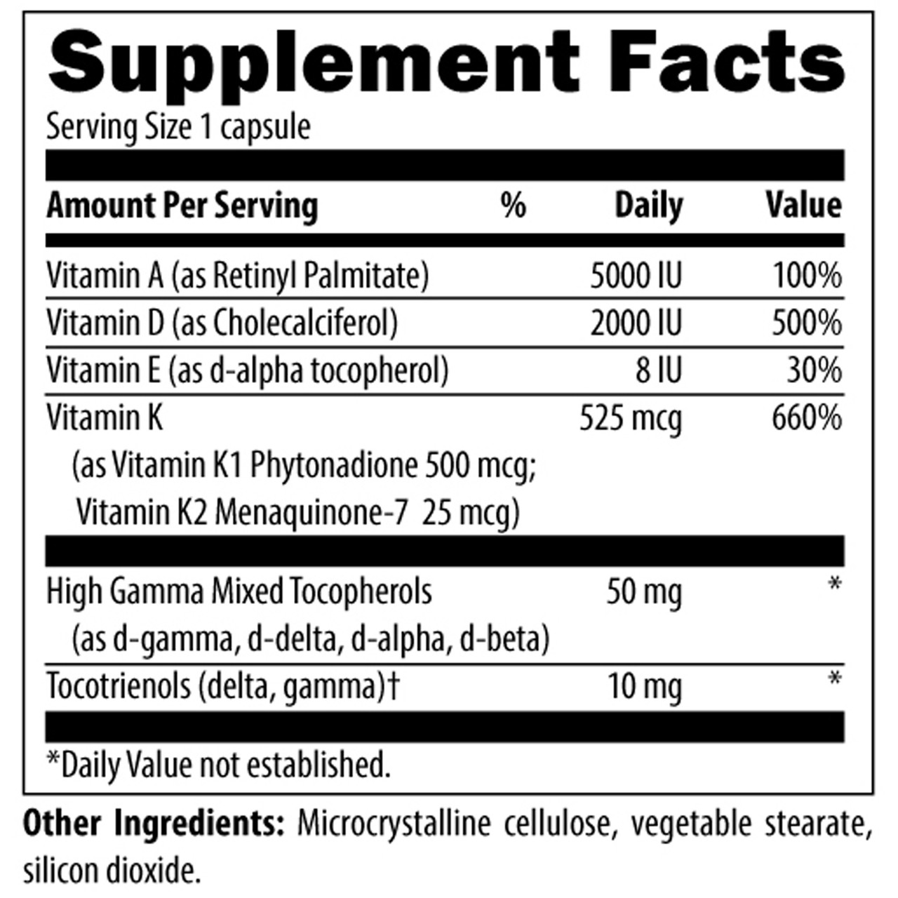 Designs for Health Vitamin D Complex 60 vcaps ingredients