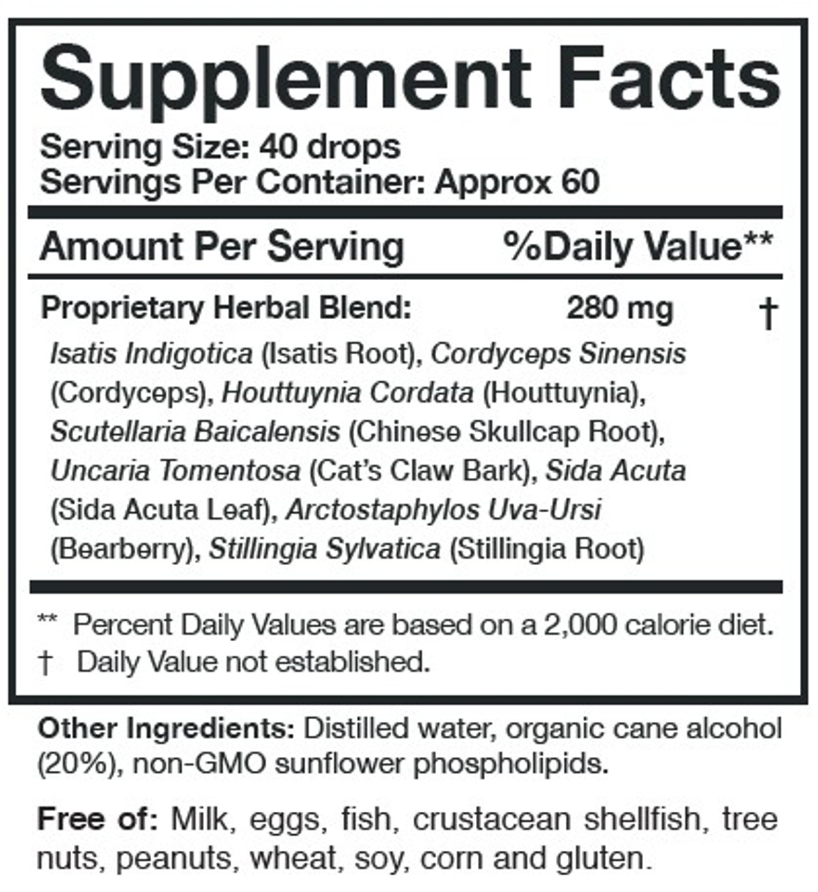 Researched Nutritionals Myc-P 4 fl. oz ingredients