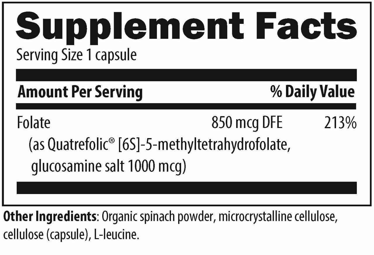 Designs for Health L-5-MTHF 500 mcg 120 caps ingredients