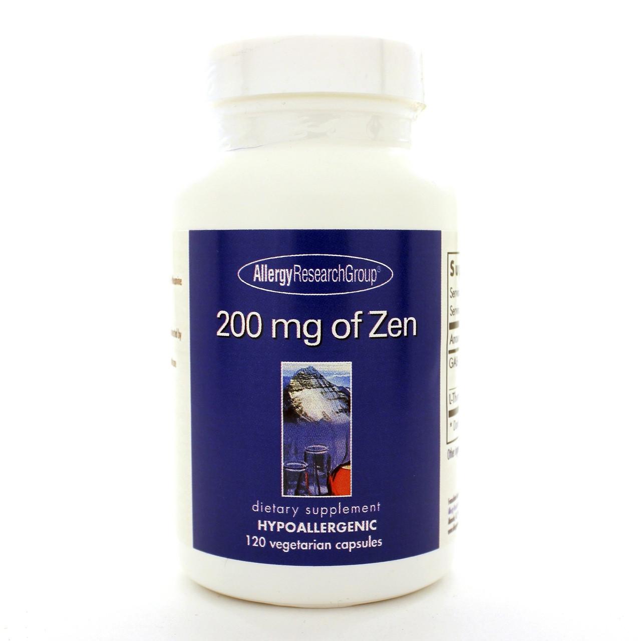 Allergy Research Group 200 mg of Zen 120 caps