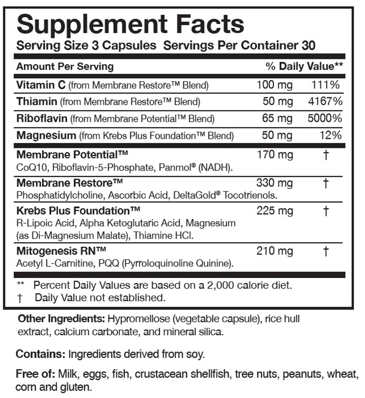 Researched Nutritonals ATP 360 90 caps ingredients